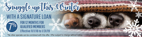 Snuggle Up This Winter Signature Loan Banner