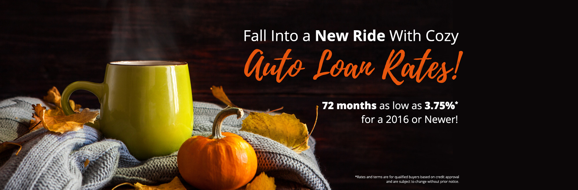 Fall into Cozy Rates Banner