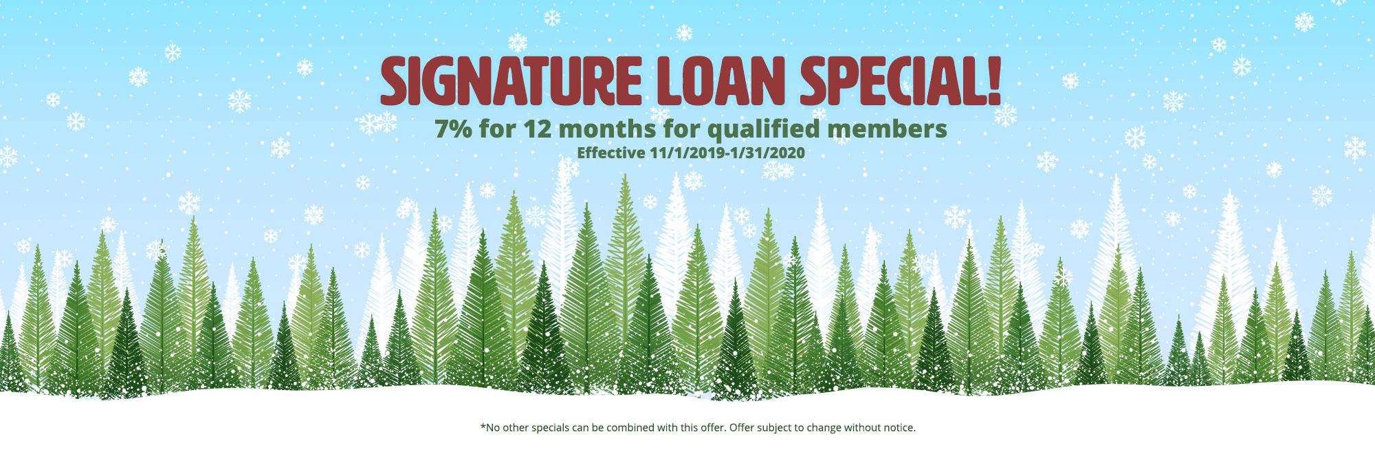 Signature Loan banner